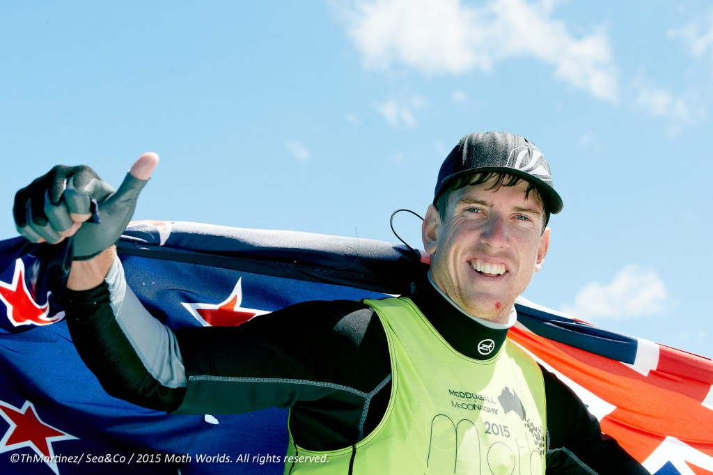 Peter Burling (NZL) 2015 International Moth World Champion